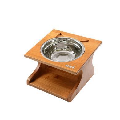 喵仙兒實木貓餐桌貓碗狗碗斜面碗護頸椎寵物用品