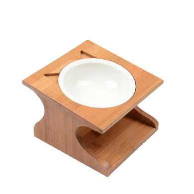 喵仙兒寵物實木餐桌寵物碗貓碗貓餐桌貓用品瓷碗寵物用品