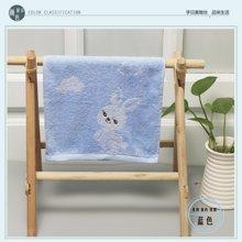 纯棉兔崽崽提花刺绣童巾