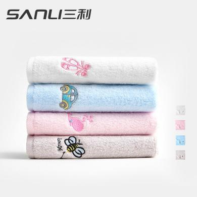 三利儿童小毛巾 纯棉卡通全棉洗脸面巾吸水童巾宝宝柔软家用