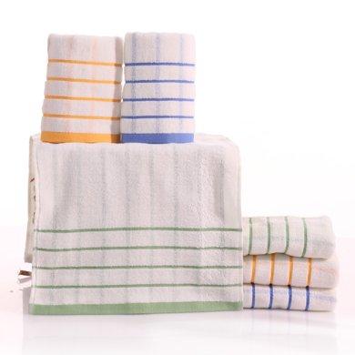 三利條紋面巾