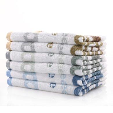 【三利毛巾面巾,媽媽放心】三利字母面巾