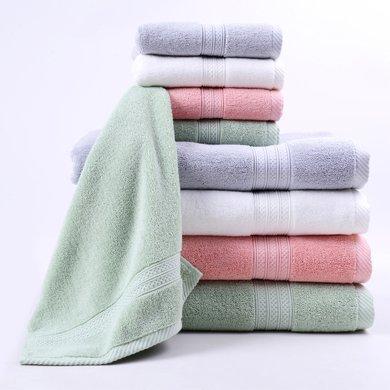 菲爾芙精梳棉素色緞檔面巾(淺綠)THFR26FL YR26FL(76cm*38cm)