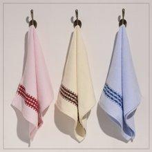 纯棉素缎毛巾
