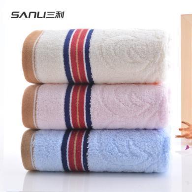 三利毛巾纯棉洗脸家用柔软吸水薄款面巾9600