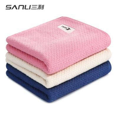 三利純棉紗布大毛巾洗臉家用成人情侶加大加厚吸水柔軟面巾js816