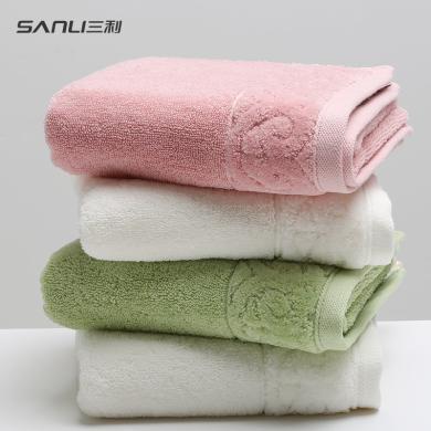 三利長絨棉素色毛巾純棉加厚全棉洗臉家用成人吸水男女情侶大面巾s802