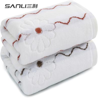 三利割絨毛巾純棉洗臉家用水加大加厚柔軟吸成人男女全棉面巾9515