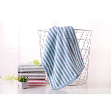 菲尔芙色织条纹面巾(蓝)(34cm*74cm)