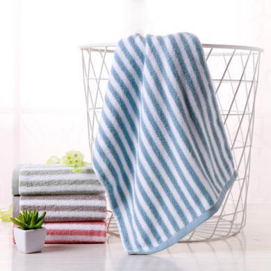 菲爾芙色織條紋面巾(棕) DN1(34cm*74cm)