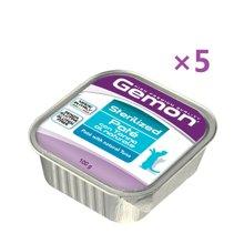 【5盒装】【意大利】Monge梦吉Gemon全猫粮杀菌肉酱餐盒 天然金枪鱼口味100g