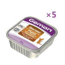 【5盒装】意大利Monge梦吉Gemon老年猫粮肉酱餐盒 鸡肉火鸡肉口味100g