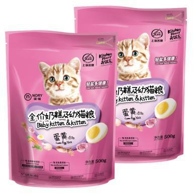 諾瑞蛋黃助長奶糕及幼貓糧500g*5包