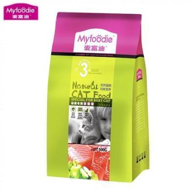 麦富迪宠物幼猫专用奶糕营养猫粮500g离乳期断奶天然小猫粮