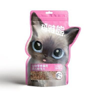 玛雅熊 宠物猫零食 肉类零食 鸡肉鳕鱼片  50g
