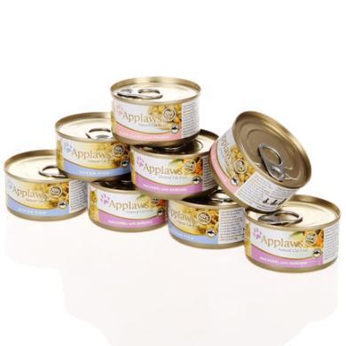 APPLAWS愛普士美食貓罐組合裝(鯖魚雞肉、雞肉、雞肉南瓜)8罐