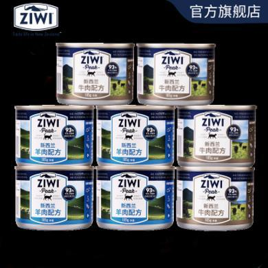 【ZIWI巅峰】滋益巅峰成猫幼猫牛肉*4羊肉*4主食湿粮罐头8*185g