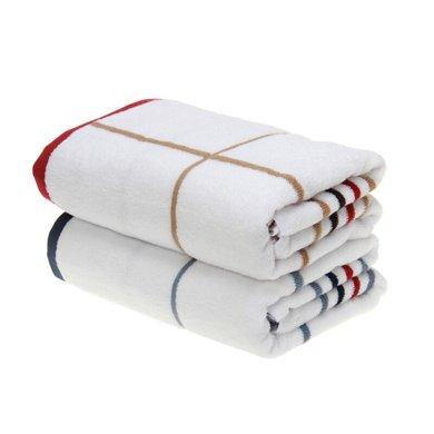 潔麗雅 純棉歐風簡約素色浴巾 經典條紋男女情侶成人浴巾6918