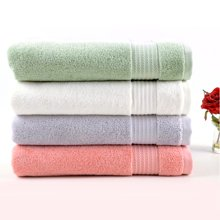 菲尔芙精梳有机棉素色缎档浴巾(本白)(140cm*70cm)