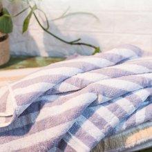 纯棉色织提缎弱捻加厚浴巾