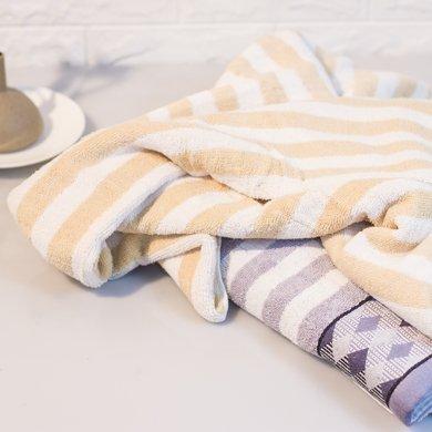 純棉色織提緞弱捻加厚浴巾