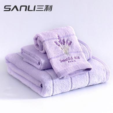 三利毛巾純棉家用浴巾成人男女情侶款柔軟吸水薰衣草香味浴巾C302