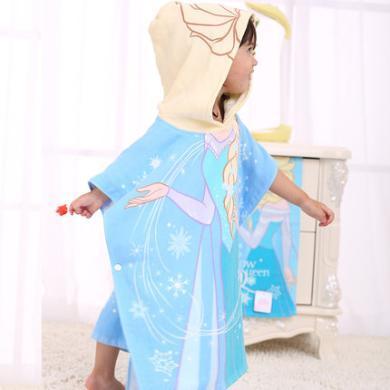 迪士尼家紡   兒童連帽浴巾純棉浴巾斗篷寶寶披風沙灘巾棉浴袍