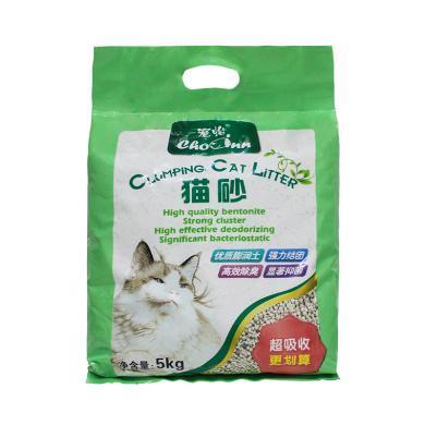 宠怡膨润土猫砂5kg强吸水猫砂土猫沙抑菌吸水祛味宠物用品
