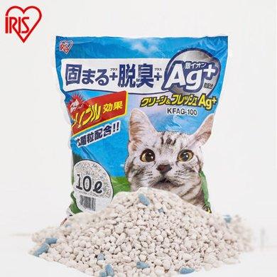 愛麗思IRIS抗菌銀離子膨潤土貓砂 10L(約8.4kg)抗菌銀離子10L