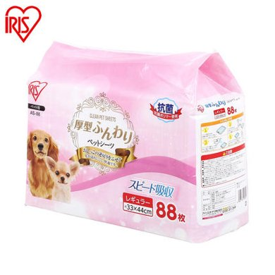 愛麗思IRIS 寵物用品一次性加厚吸水尿不濕寵物尿墊狗狗尿片 S-小型是88片裝,M-中型是44片裝