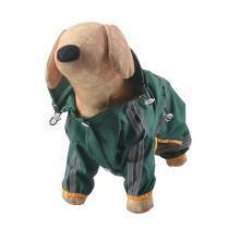 防风宠物风衣现货 小狗PVC单层雨衣反光带装饰反光安全四角衣-四脚衣