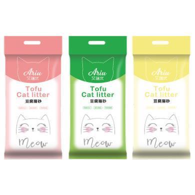豆腐猫砂厂家直销无粉尘高效结团除臭真空包装植物猫砂PD