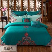 乐加家纺 1.8m纯棉床上四件套全棉纯色-凤凰台