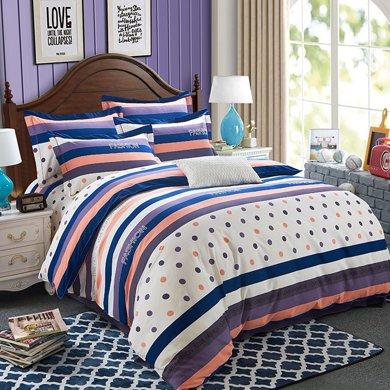 VIPLIFE高端全棉活性印加厚花磨毛純棉四件套床單被套