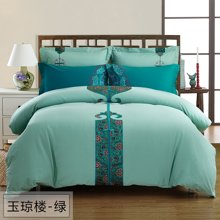 乐加家纺 1.8m纯棉床上四件套全棉纯色-玉琼楼