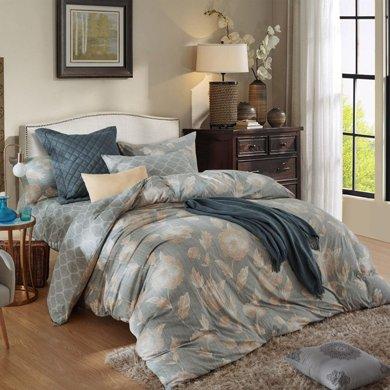 博洋家紡  全棉精梳針織床笠四件套-歐比亞
