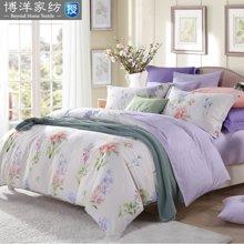 博洋家纺 高支全棉印花床单四件套-粉然花迹