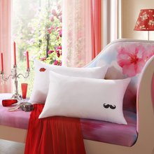 LOVO家纺成人枕头纤维枕两只装公婆情?#38706;?#26517;