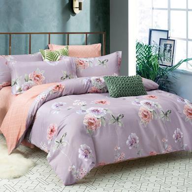 帝豪家紡 床單四件套磨毛秋冬加厚保暖雙人全棉床上用品