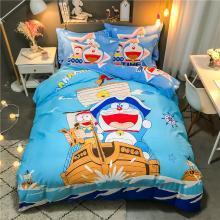 DREAM HOME 四季全棉13070大版卡通系列四件套儿童床单/床笠款哆啦A梦586605-4