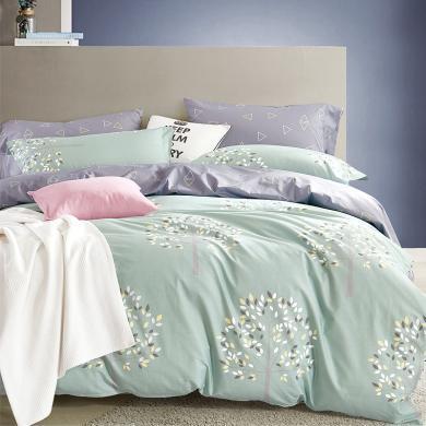 帝豪家紡 簡約  純棉全棉高密床上四件套 全棉 純棉 1.5米 1.8m 床單 雙人套件 床單被套