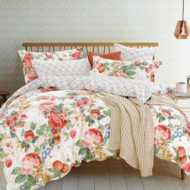 帝豪家纺 四件套全棉纯棉韩式花季床笠被套1.8m床上用品