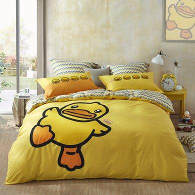 LOVO小黄鸭-新的一天床品四件套 套件