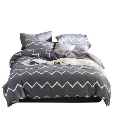 米卡多北歐全棉床笠款四件套床上用品