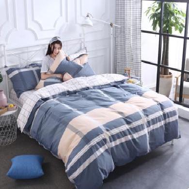品臥家紡 純棉歐式印花四件套1.5米1.8米床上用品四件套 枕套花色隨機02