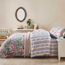 雅兰家纺床上用品四件套1.5m床双人床单被套1.8m床莫代尔4件套 花韵凝香