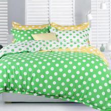 雅兰家纺床上全棉四件套纯棉双人被套床单床笠波点小清新4件套  跃动旋律