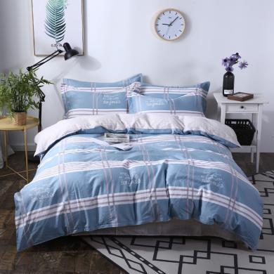 品臥家紡 純棉歐式印花四件套1.5米1.8米床上用品四件套 枕套花色隨機03
