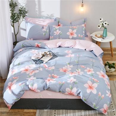 VIPLIFE家紡 精梳全棉四件套 40支高支高密床單款套件田園風格
