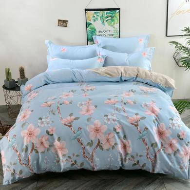 【恒源祥家纺】全棉四件套 多款式选择 纯棉 床上用品 1.5/1.8米床适用床单款